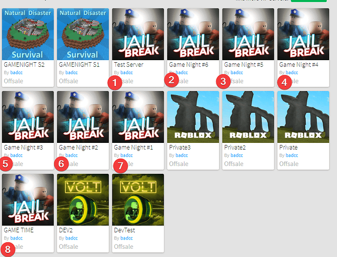 Can't see all the VIP servers I've bought - Web Bugs - Roblox