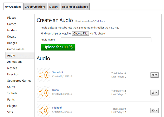 Mp3 To Roblox Sound Roblox - Audio Play Feature In Develop Tab Website Features