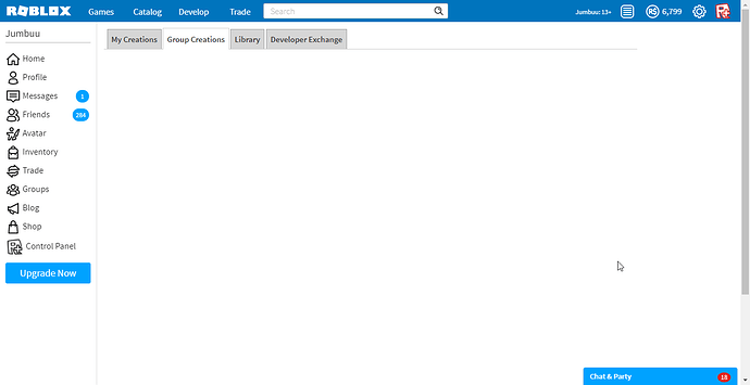 Serious Group Gamepass Page Blank Website Bugs Roblox