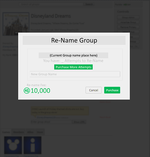 Ability To Change Group Name Website Features Roblox Developer
