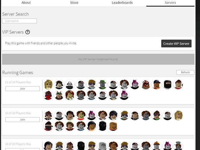 Servers not showing / Many bugs with ROBLOX? - Web Bugs