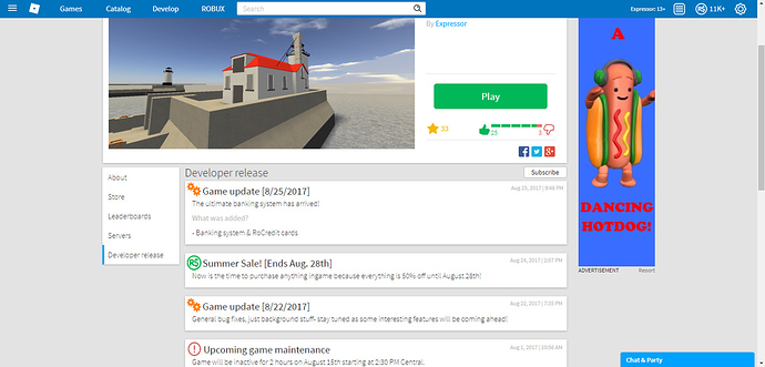 How To Delete A Roblox Game 2017 Game Update Page Subscribe To Game Updates Website Features Roblox Developer Forum