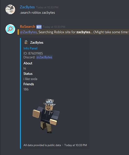 Roblox User Lookup Discord bot RELEASE - Community Resources