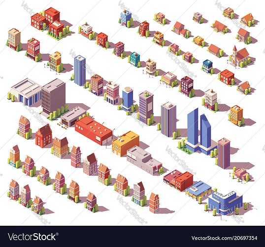 low-poly-isometric-buildings-set-vector-20697354