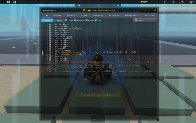 Roblox How To Use Developer Console Opening New Dev Console Freezes Roblox Engine Bugs Roblox Developer Forum