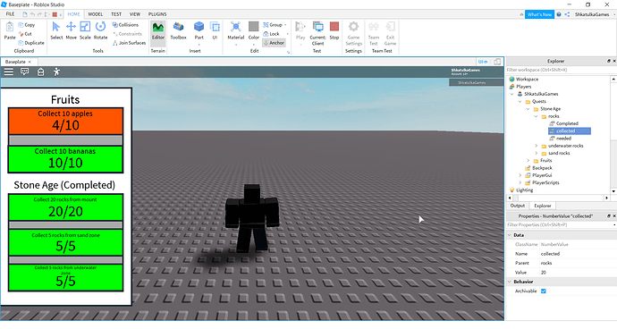 How To Make Quest System With Questlines From Npc Scripting Support Roblox Developer Forum