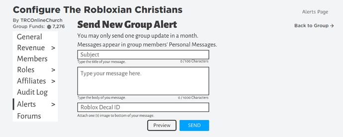 Empty Group Finder Roblox With Funds