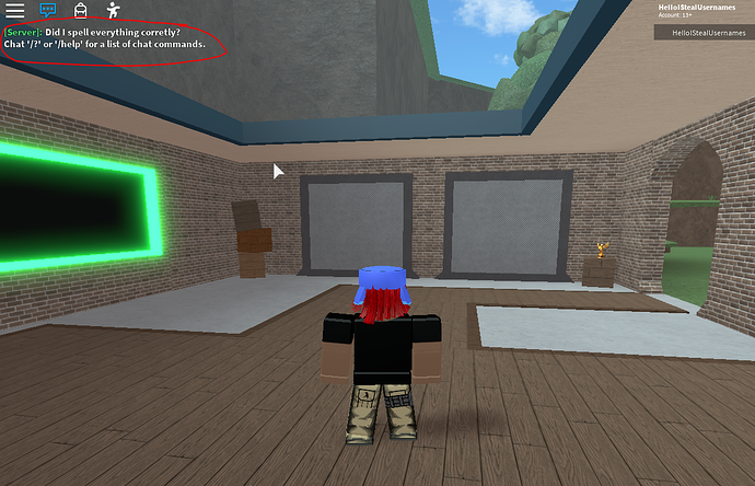 Player Has Joined The Game Message On Roblox S Default Chat