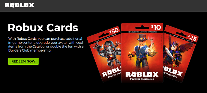 Somewhat Fixed I Cannot Redeem Roblox Cards On The Website - how much robux is in a 50 roblox card