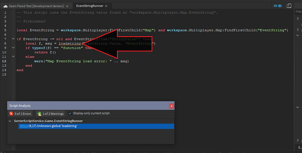 Roblox Loadstring Is Not Available Script Editor Doesn T Recognize Loadstring Function Studio Bugs Roblox Developer Forum