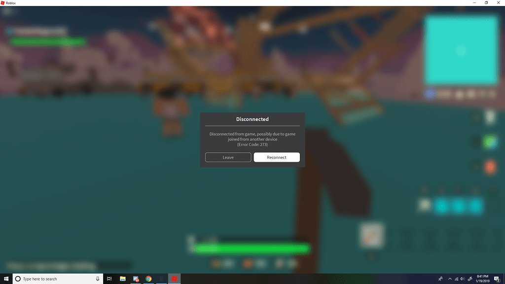 Users Being Disconnected From Game Error Code 273 Engine