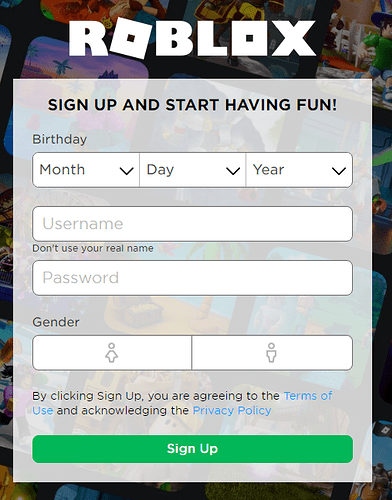 Roblox Login To The Game Allow Users To Log In Sign Up Using Other Applications Google Twitter Instagram And Microsoft Website Features Roblox Developer Forum
