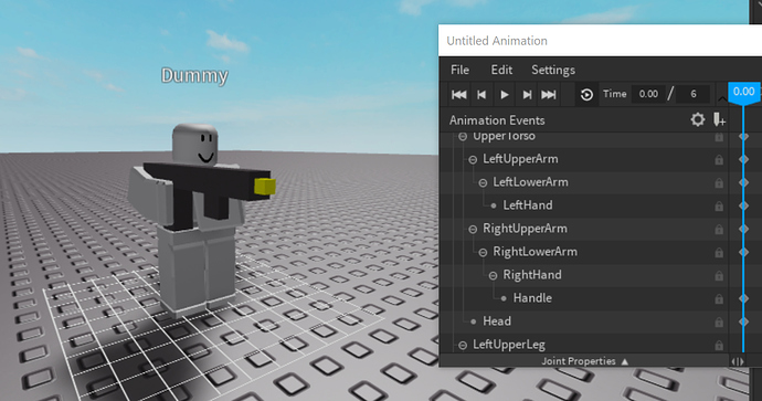 How to animate a tool/object with a Dummy in the Animation Editor