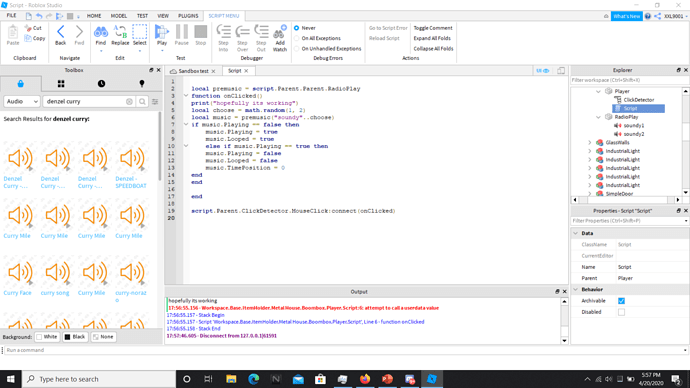 Roblox Boomboc Codes Trying To Make Boombox Code Work Scripting Support Roblox Developer Forum