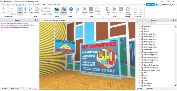 Dayron Grill V1 (GRAND OPENING) - Roblox Studio 11_3_2020 8_46_24 AM