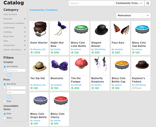 Ugc Catalog Is Now Live Announcements Roblox Developer Forum