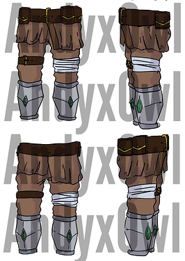 armor commission legs brown
