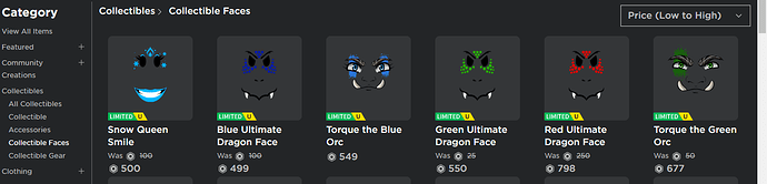 torque the blue orc roblox Low To High Sort For Collectibles In Catalog Does Not Sort In Correct Order Website Bugs Roblox Developer Forum