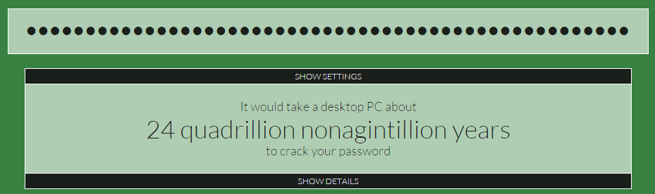 Like, I want to make my password really strong - Web Features