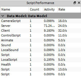 Suggestion to make Script Performance tab a little bit