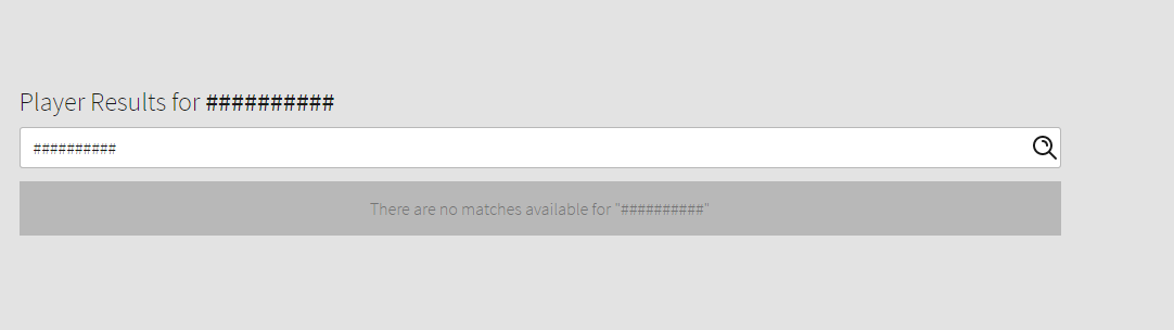 Player search is filtered? / Searching people ends up at