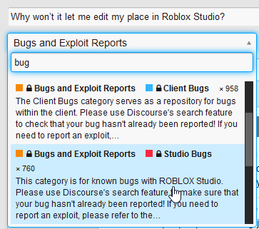 Why won't it let me edit my place in Roblox Studio? - Studio Bugs