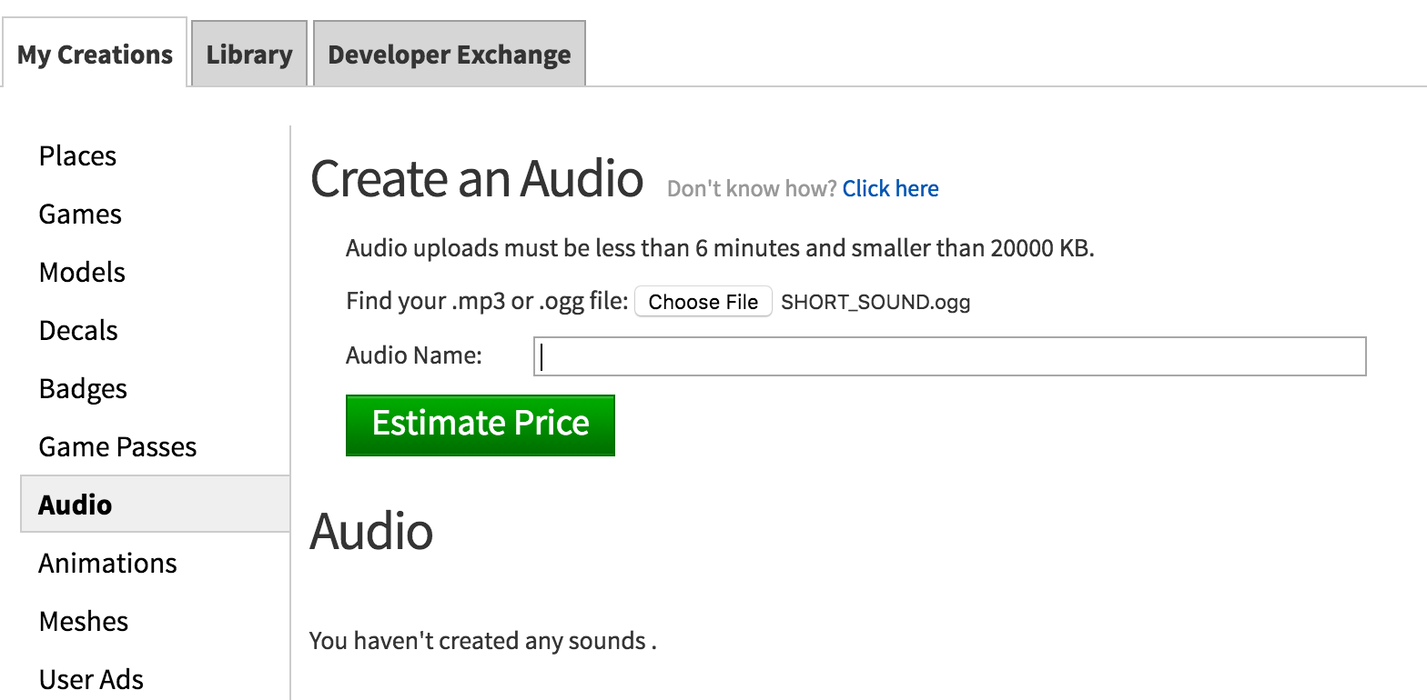 Mp3 To Roblox Sound Roblox - Tiered Audio Upload Prices With Longer Max Lengthsizes
