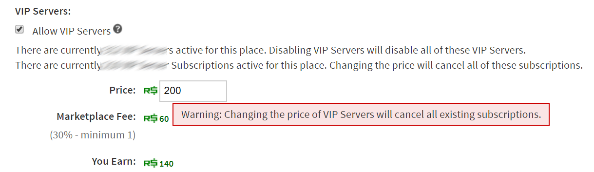 Don T Cancel Vip Servers From Changing The Price Website