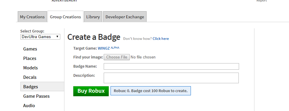 How To Make A Roblox Group For Free 2019 Free Robux Just - We Should Be Able To Purchase A Badge For A Group Game With