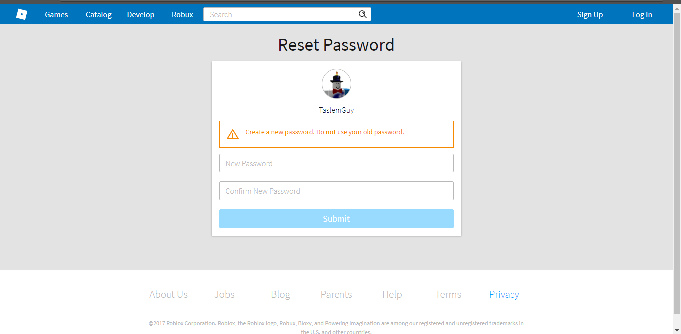 Reset Account Password Using Email Does Not Work There Is No Email