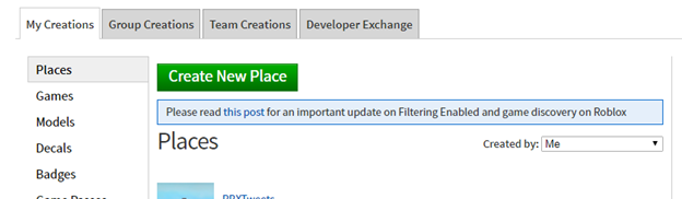 Teamcreate Tab In Roblox Studio Or Develop Page Studio Features