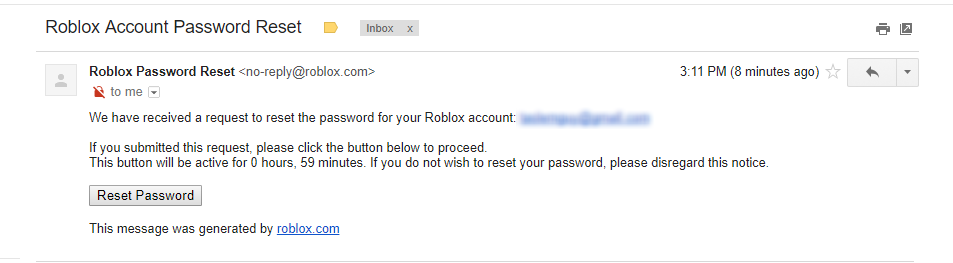 Reset Account Password Using Email Does Not Work There Is No Email Linked To This Account Website Bugs Roblox Developer Forum