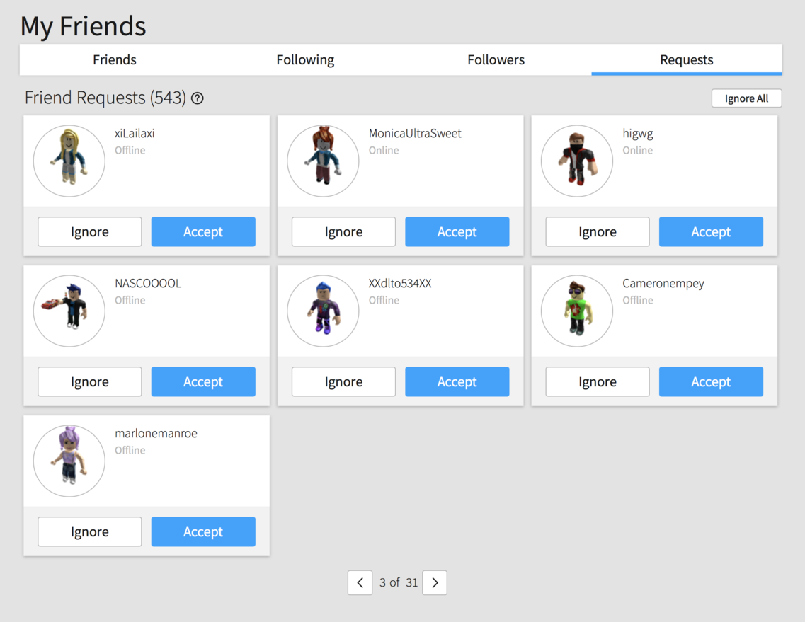 Friend Requests tab displayed incorrectly - Web Bugs - Roblox