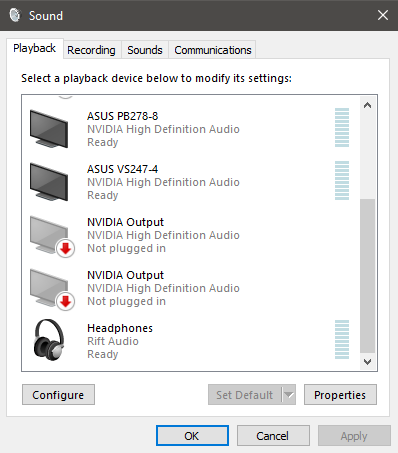 Roblox Defaulting To Use Occulus Rift For Audio Output Instead Of My