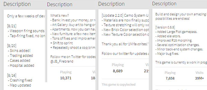 Roblox How To Update Your About Game Update Page Subscribe To Game Updates Website Features Roblox Developer Forum
