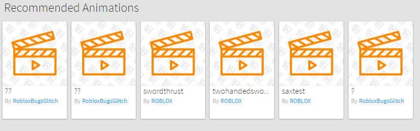 No Animation category in Library - Web Bugs - Roblox