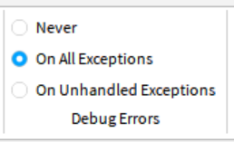 """""""Break on all exceptions"""""""