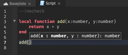 Signature Help uses strict type to inform help hover in nocheck mode