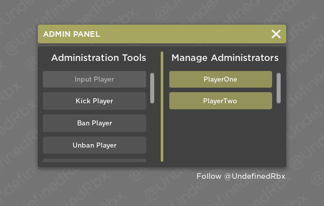 How To Get The Admin Panel On Roblox