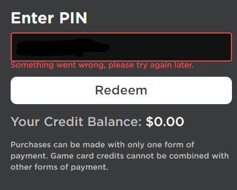 [ SOMEWHAT FIXED ] I cannot redeem Roblox cards on the ...