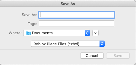 A screenshot showing save dialogue defaulting to the available Documents folder