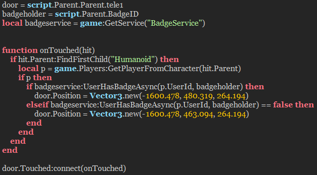 Roblox How To Make A Game Badge Part Moves If Player Has Badge Scripting Support Roblox Developer Forum