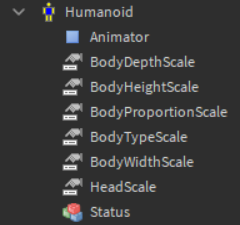 Roblox Body Scale Normal Humanoid Scaling Parameters No Longer Present In Local Server Mode