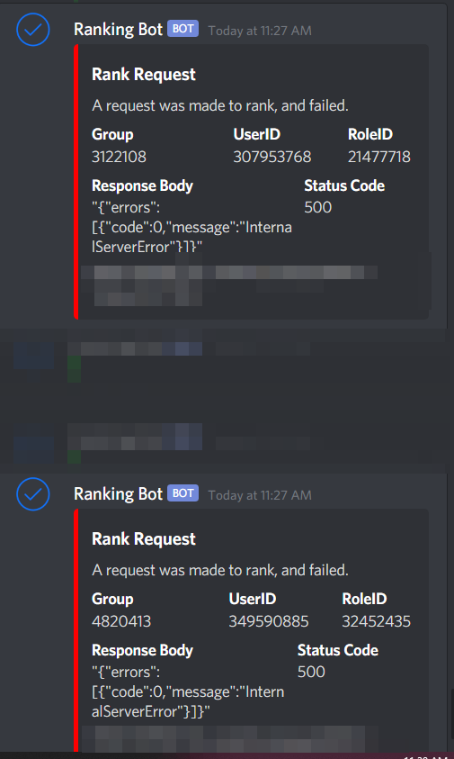 Increase In Http 500 Errors On Api Endpoints Website Bugs Roblox Developer Forum
