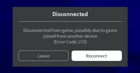 Roblox Notoriety How To Play Users Being Disconnected From Game Error Code 273 Engine Bugs Roblox Developer Forum