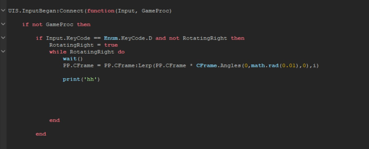Welded Cframe Using Lerp Function Scripting Support Roblox