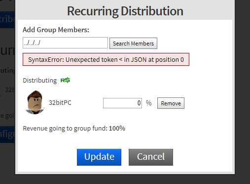 Group funds search member API allows for URL traversal - Web