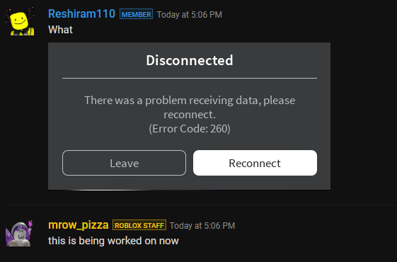 Server disconnection, Error Code: 277 - Engine Bugs - Roblox