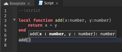Signature Help uses strict type to inform help hover in strict mode