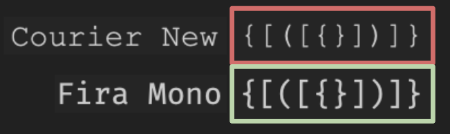 Side-by-side text shows difference between brackets braces and parentheses